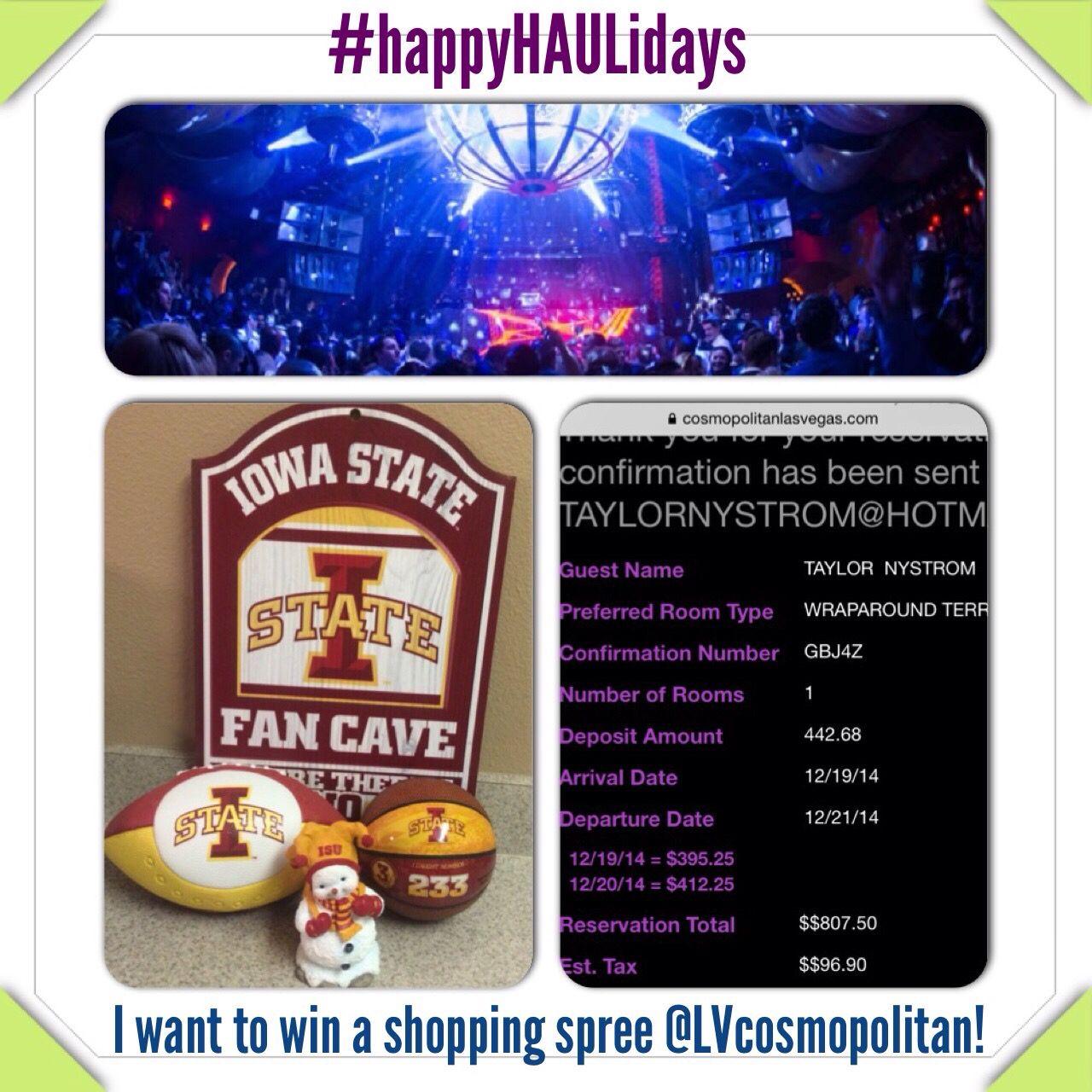 Vegas! #happyHAULidays I want to win a shopping spree @LVcosmopolitan