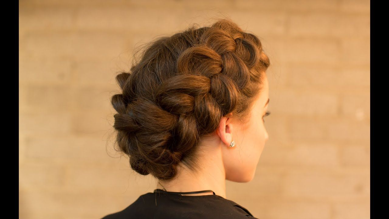 Double Dutch Braid Upstyle In Minutes Youtube Dutch Braid Updo Hair Styles Braided Hairstyles