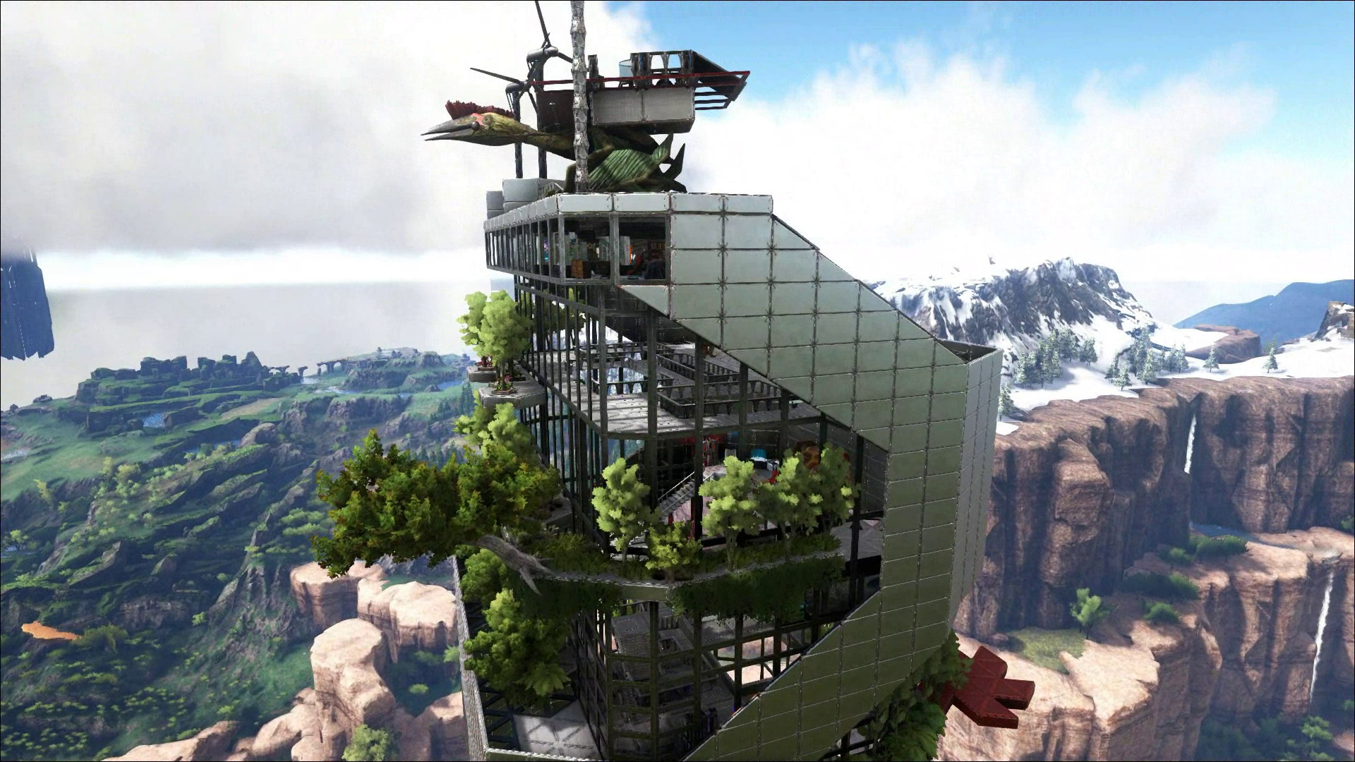 Ark, Tek Base Design, Tek Skyscraper