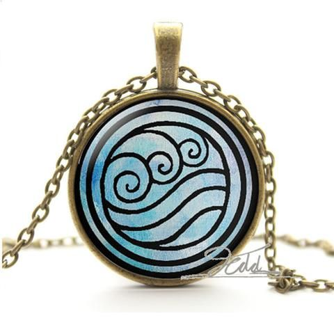 Fire Last Airbender Fire Nation Earth Kingdom Air Nomad Airbender Water Tribe sea wave Elements Pendant Necklaces Jewelry - Animetee - 6