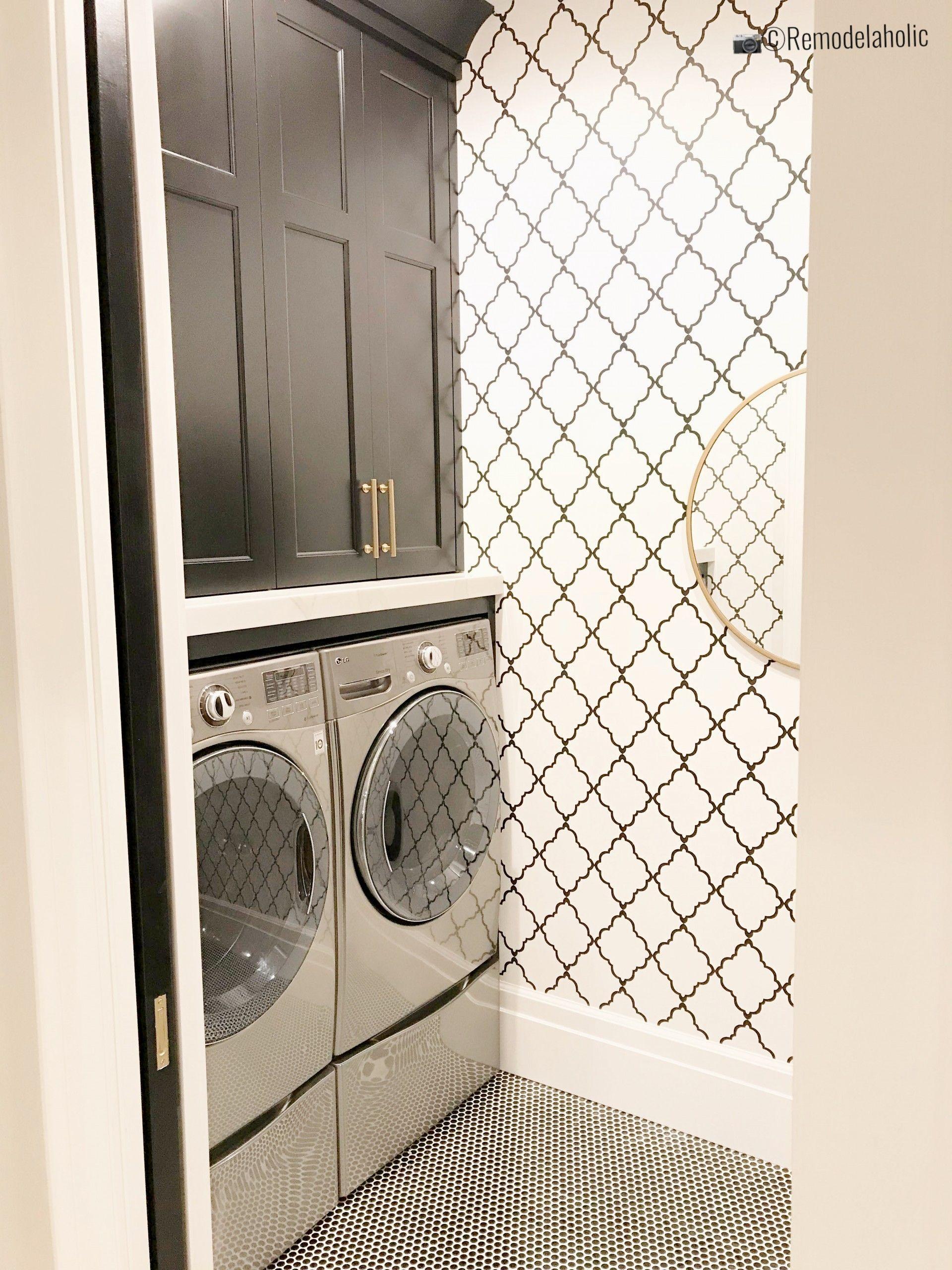 Kitchen And Bathroom Splashback Removable Vinyl Wallpaper Etsy Laundry Room Inspiration Bathroom Splashback Laundry Room Design