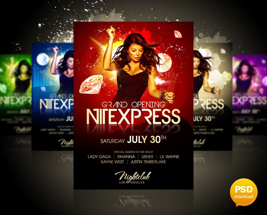 Nitexpress Party Flyer by Party-Flyer poster Pinterest Party - party flyer