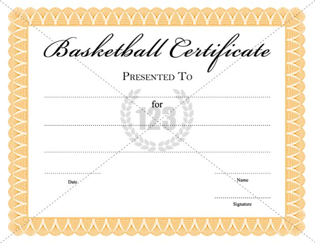 Special Basketball Certificate Templates For Free Download