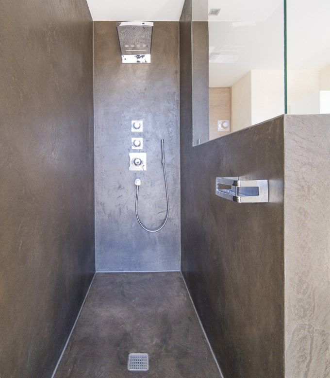 Terreno Designspachtel Als Fugenlose Dusche. Ausgeführt