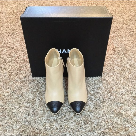 Chanel Chain Boots 2015 Collection Brand new in box! These runs small. Size 6.5 IT but 6 US. No Trade! Cheaper via ️️. CHANEL Shoes Ankle Boots & Booties