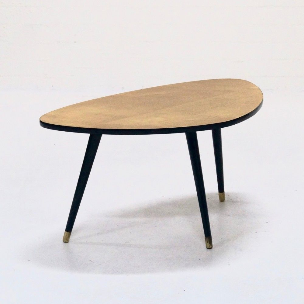 Mid Century Triangle Shaped Coffee Table 1960s Coffee Table