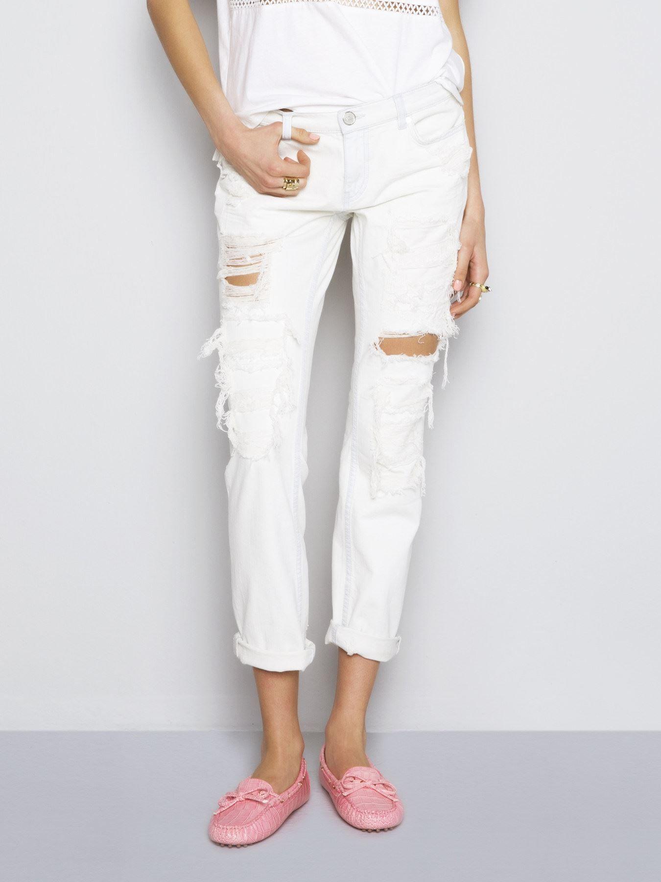 Twist Bol Kesim Yirtik Jean Pantolon 91 00 Tl Moda Stilleri Pantolon Elbise