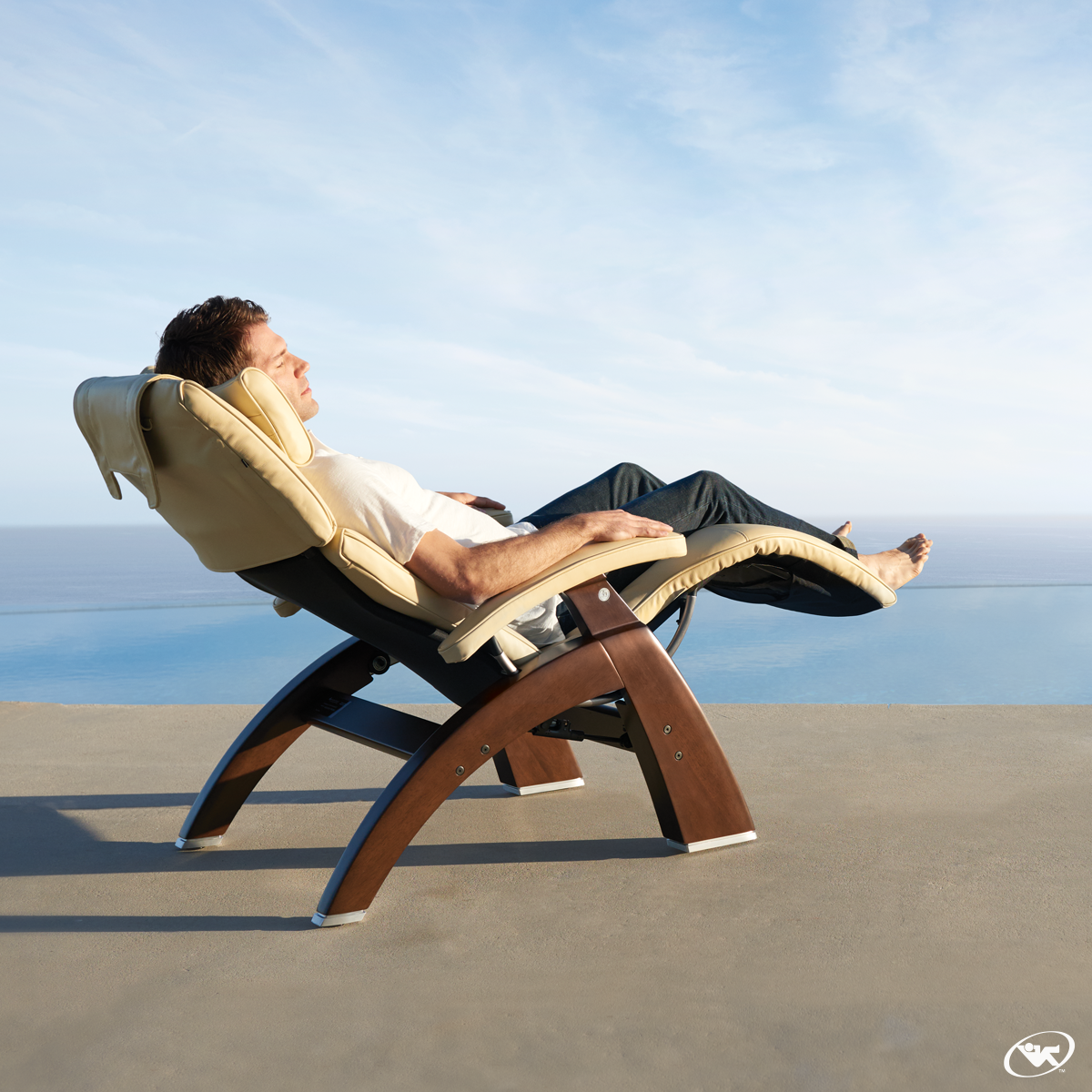 Effortlessly transport to weightless bliss when you sit in the human