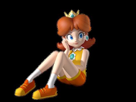 Pfirsich Cartoon Prinzessin Gänseblümchen Vergleichen Sie