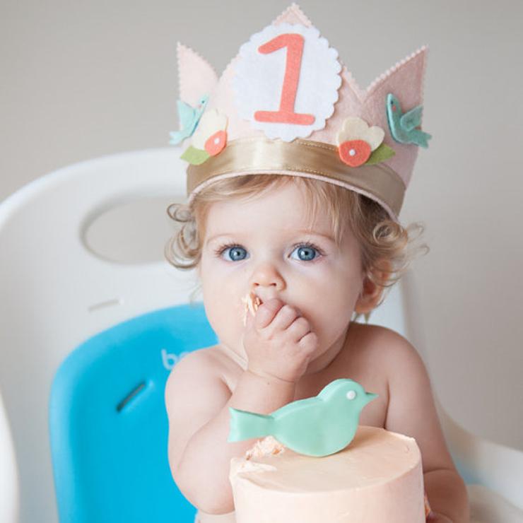 Shabby Chic Bird 1st Birthday Crown First Birthday Crown First Birthday Gifts Girl First Birthday