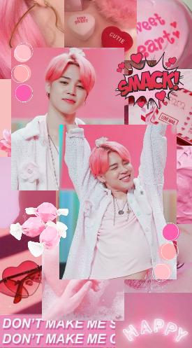 Bts Jimin Aesthetic Wallpaper Jimin Wallpaper Pink Aesthetic Aesthetic Pastel Wallpaper