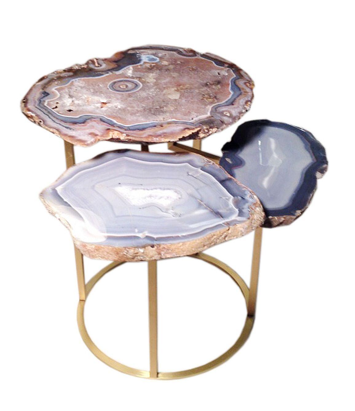 Buy Quinn Three Tier Agate Coffee Table By Matthew Studios Inc