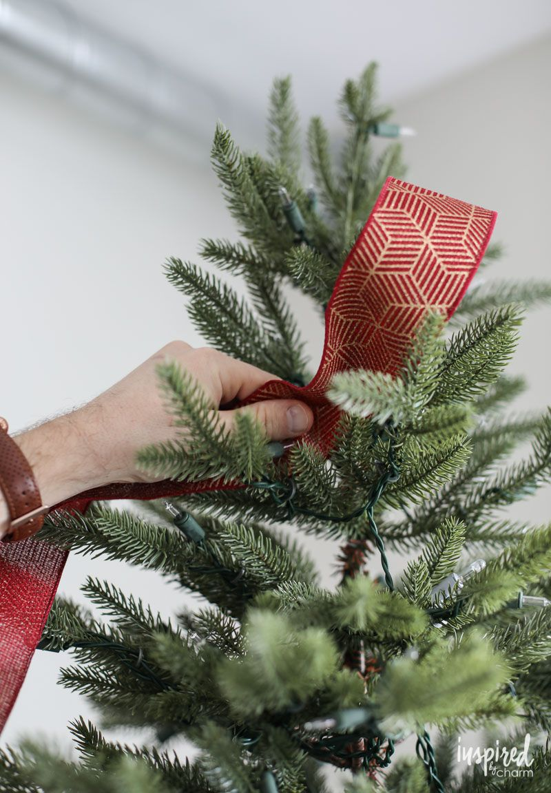 Tips And Tricks For Christmas Tree Ribbon Christmas Tree Decorations Ribbon Christmas Tree Colour Scheme Colorful Christmas Tree