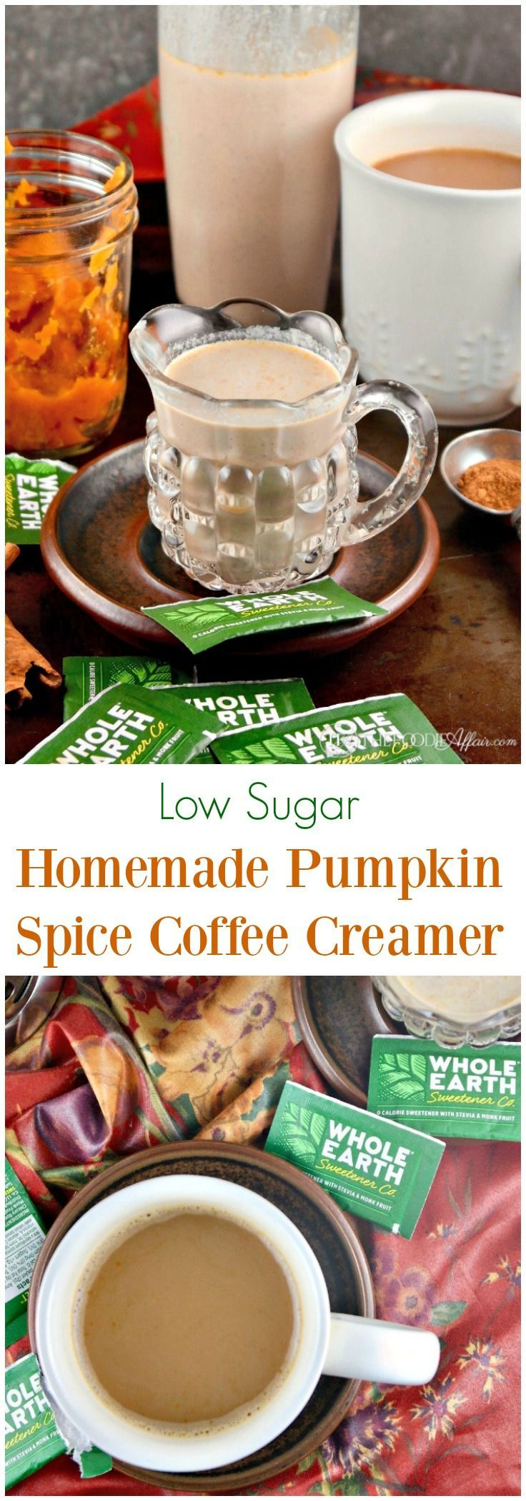Lower Sugar Homemade Pumpkin Spice Coffee Creamer Low sugar homemade pumpkin spice coffee creamer  