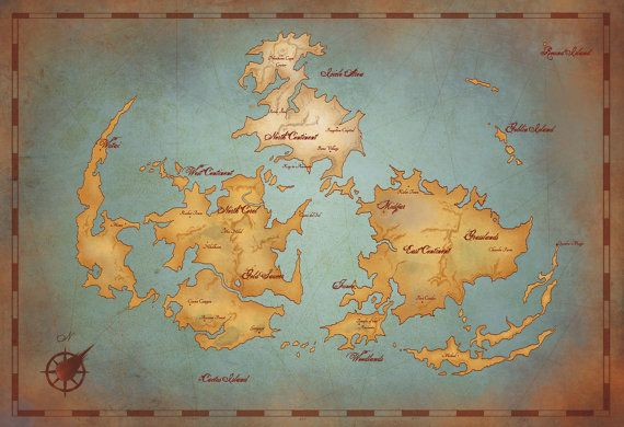 World Map Poster 60x40cm