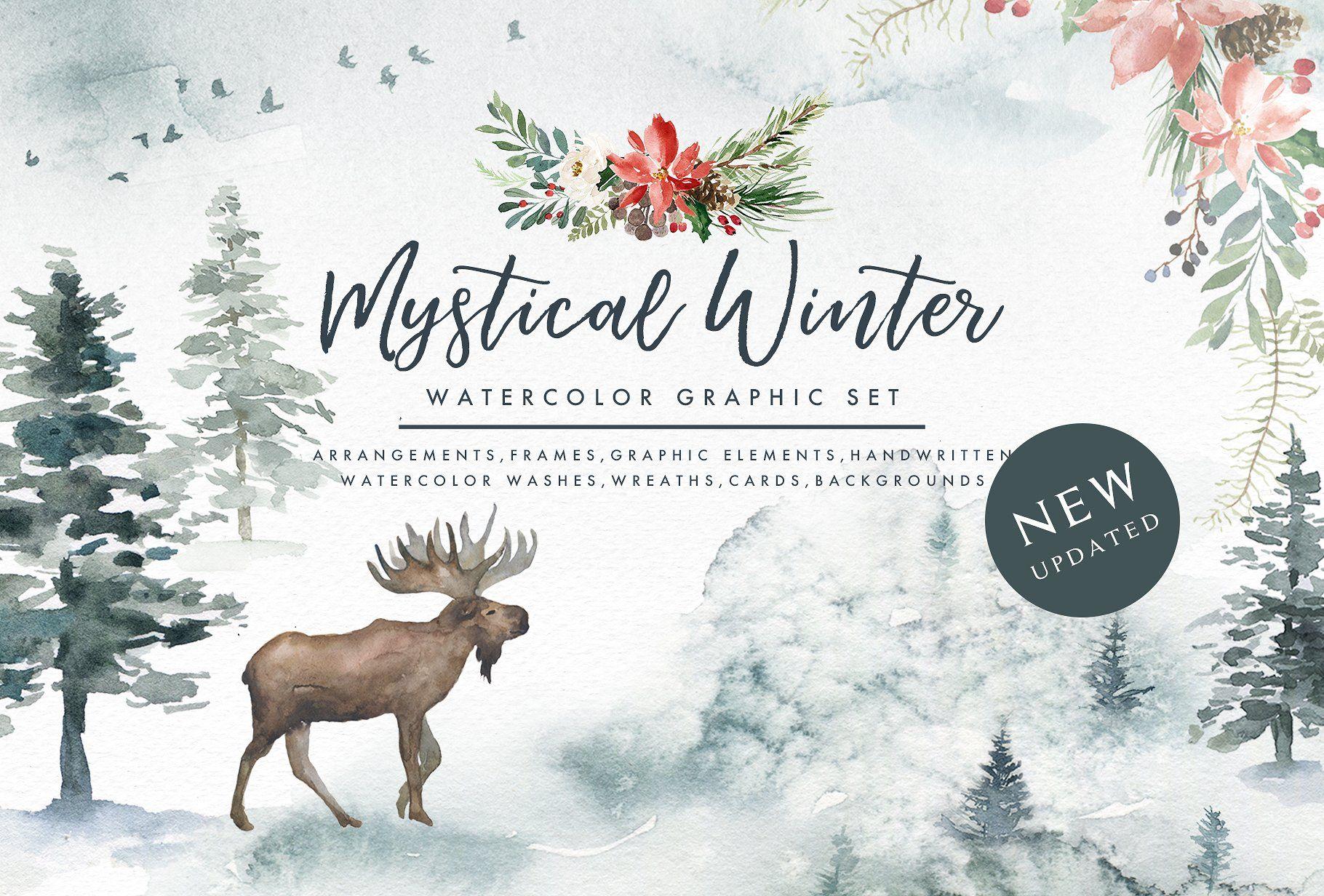 Mystical Winter winter, mystical, foggy woods, christmas