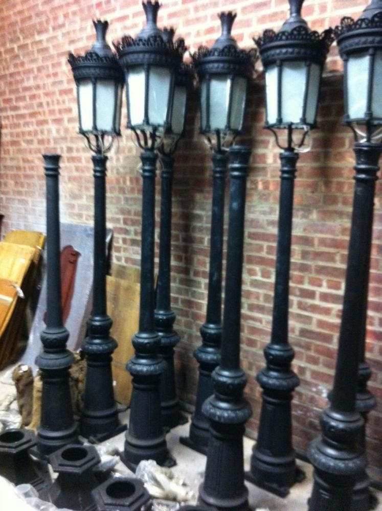 Single Light Victorian Cast Iron Outdoor Street Lamp Hsl65 Street Lamp Victorian Lamps Victorian Street