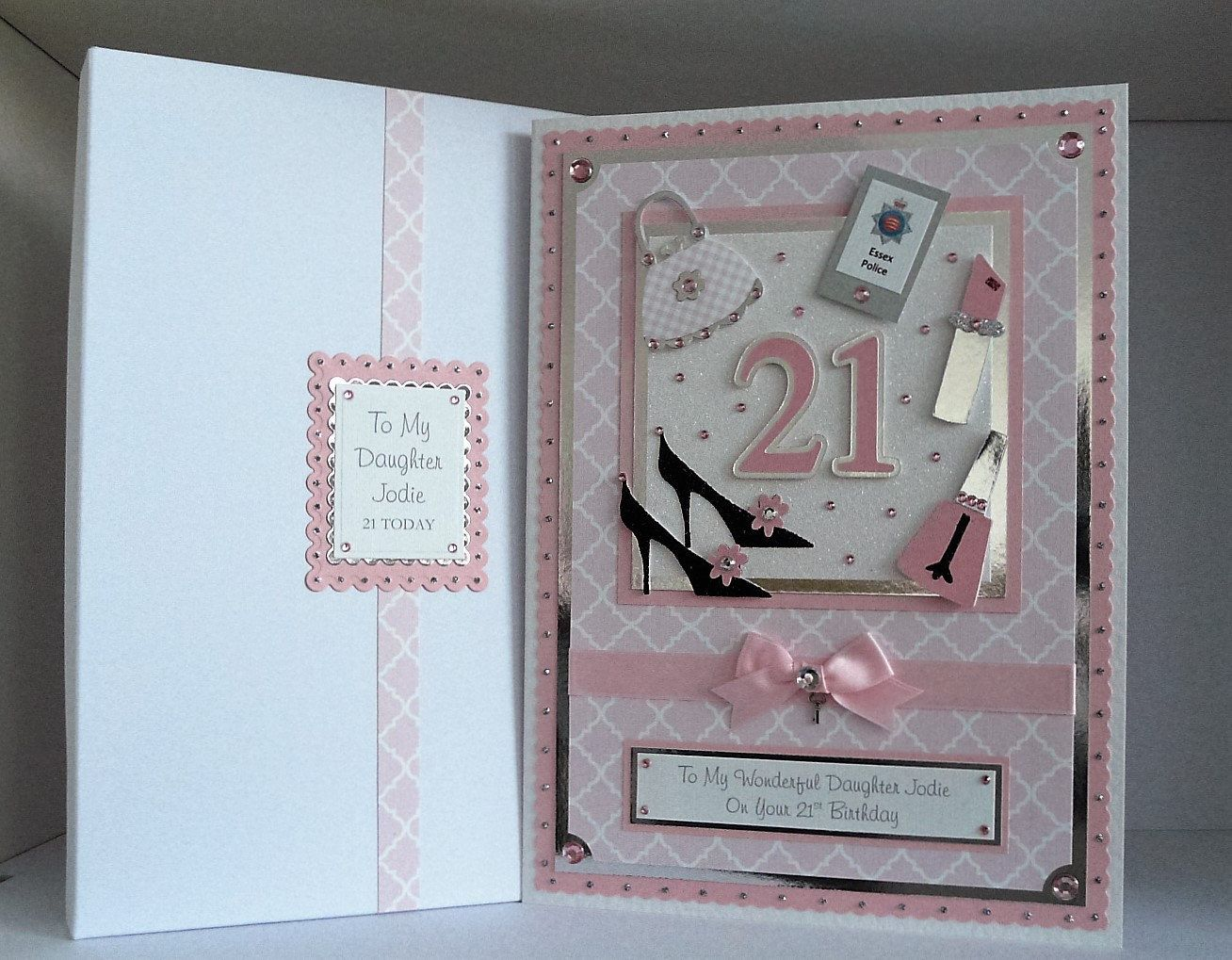 Large Handmade Personalised Birthday Card 18th 21st 30th 40th Etc