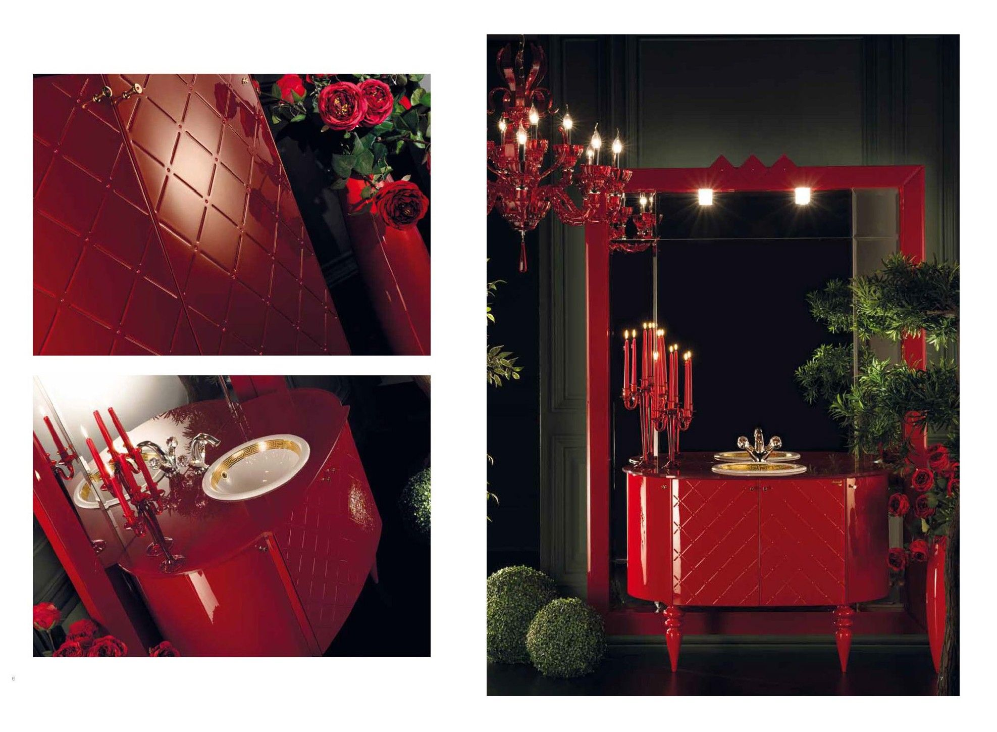 Topex Armadi Art Carmen Red Bath Vanity