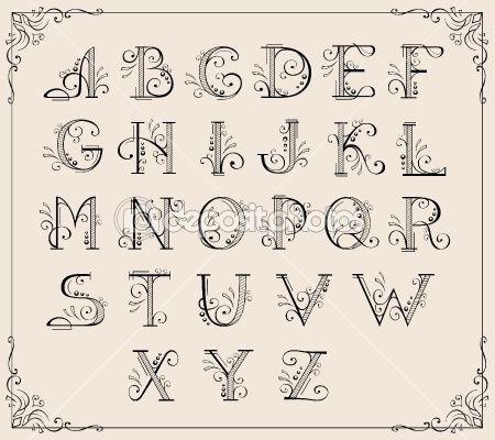 Calligraphy Alphabet Fonts | Calligraphy Fonts Alphabet Free ...