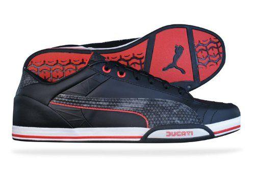 Puma 65CC Lo Ducati Mens Leather sneakers Shoes Black in