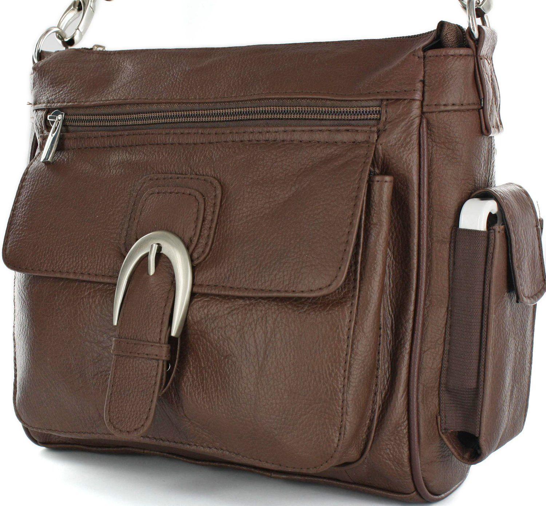 01dba0855809 Concealed Carry Purse - Brown Leather Locking CCW Gun Bag - Slash ...
