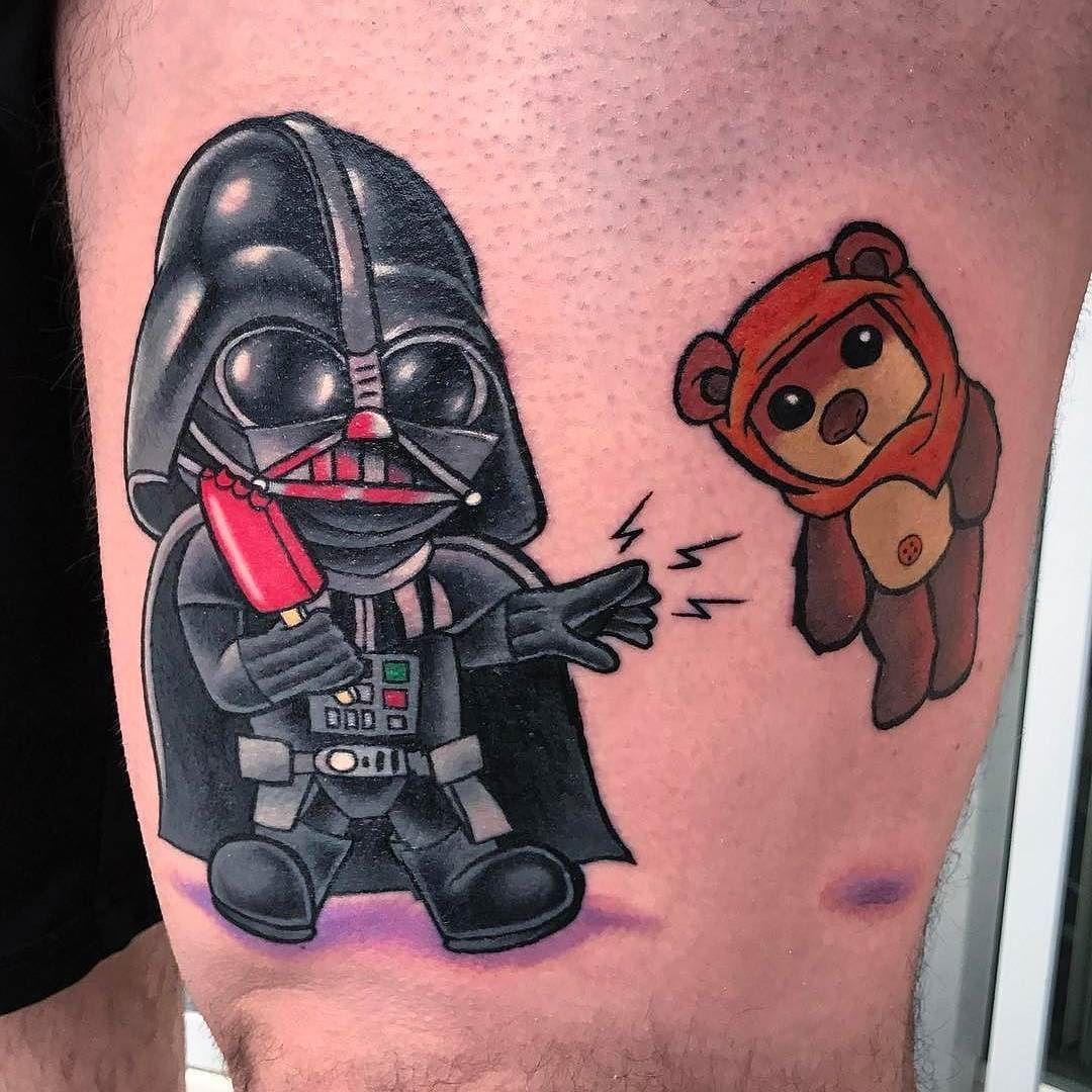 Little Darth Vader tattoo by @cynereo atInk Inertia in Colorado Springs CO #cynereo #ronolano #inkinertia #coloradosprings #colorado #darthvader #darthvadertattoo #starwars #starwarstattoo #tattoo #tattoos #tattoosnob