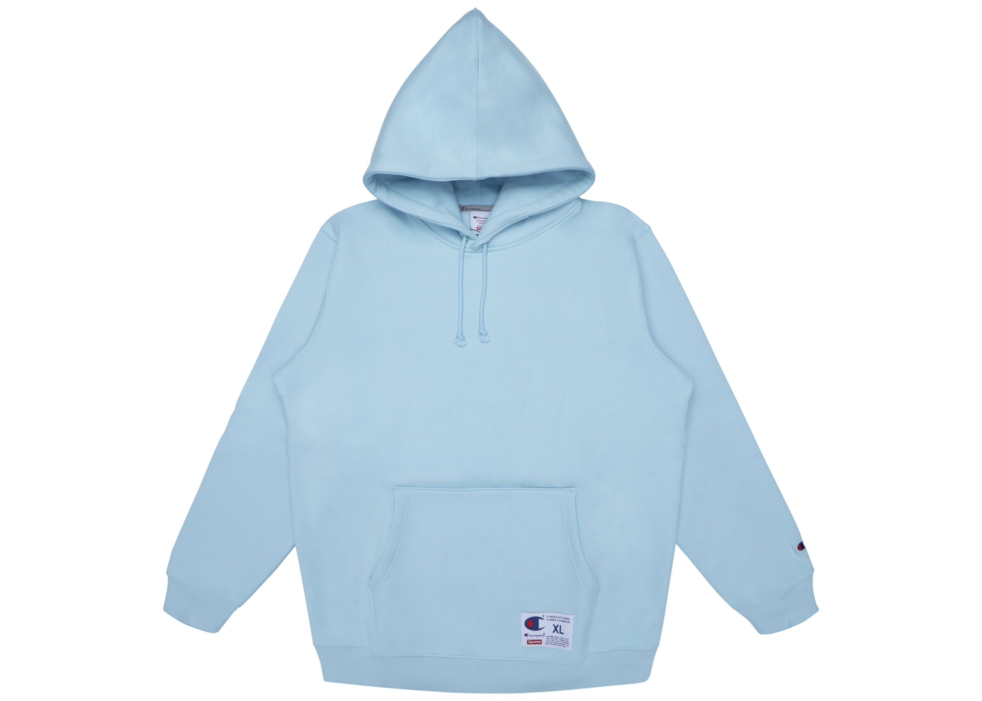 Supreme Champion Hooded Sweatshirt Ss18 Light Blue Supreme Cloth Champion Hooded Sweatshirt Hooded Sweatshirts Blue Champion Sweatshirt [ 2298 x 3217 Pixel ]