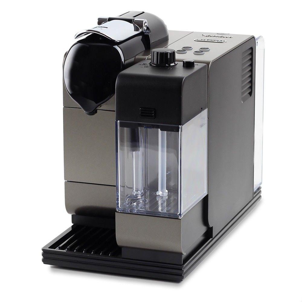 nespresso delonghi lattissima plus espresso maker u0026 integrated milk frother titanium prepares espressos - Nespresso Delonghi