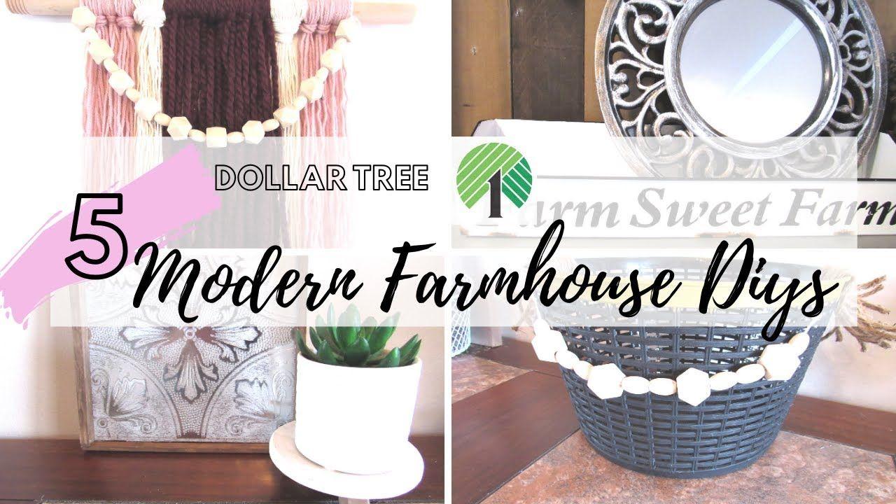 Diy modern farmhouse dollar tree home decor 5 farmhouse