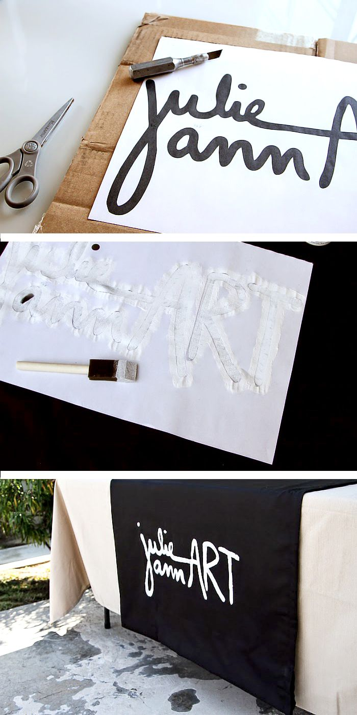 Diy Craft Show Sign Table Banner No Sew Stall Display Booth Displays