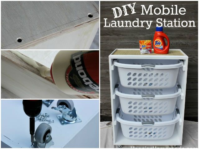 Diy mobile laundry station for the home pinterest laundry diy mobile laundry station solutioingenieria Image collections