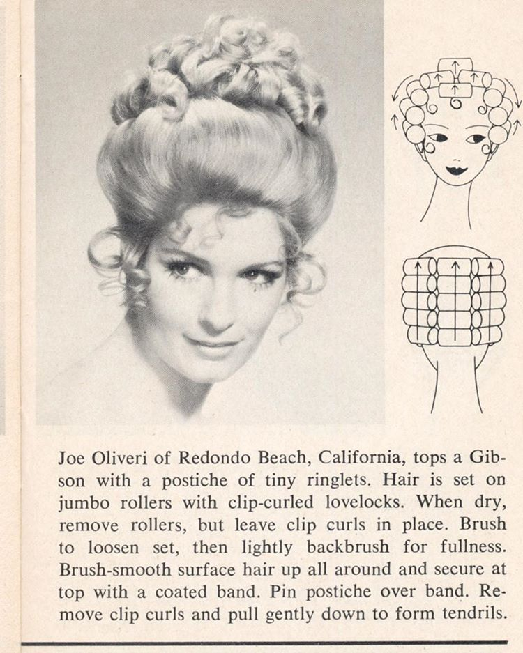Vintage Updo Hairstyle With Roller Setting Pattern HAIR ROLLER Amazing Roller Set Patterns