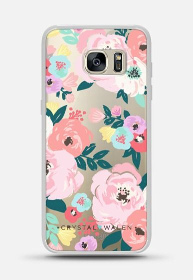 Casetify Galaxy S7 Edge Classic Snap Case - Lola-Floral-Clear-Romance by Crystal Walen #Casetify