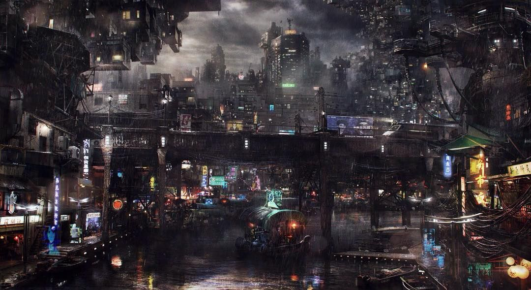 By saby menyhei empirefuture empireoffuture cyberpunk scifi hd by saby menyhei empirefuture empireoffuture cyberpunk scifi hd wallpaper art city rain river rainyday night town digitalart amazing voltagebd