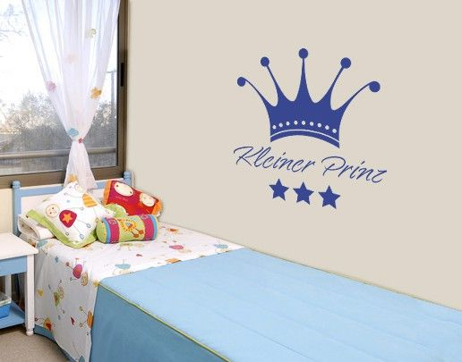 wandtattoo spr che wandworte no sf563 kleiner prinz baby babyboy kleinkind dekoideen. Black Bedroom Furniture Sets. Home Design Ideas