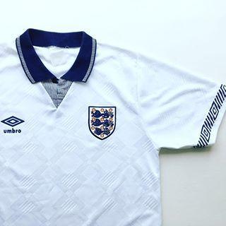 Umbro England home shirt 1990 92  original  - link in bio to shop vintage England  shirts 🏴  england  threelions  italia90  umbro  umbrofootball  ... d5e49191f