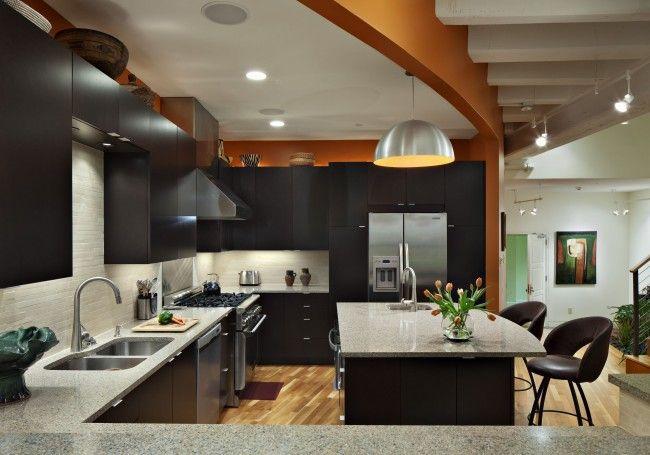 Дизайн кухни-студии: 85 фото интерьера, где готовить в ...
