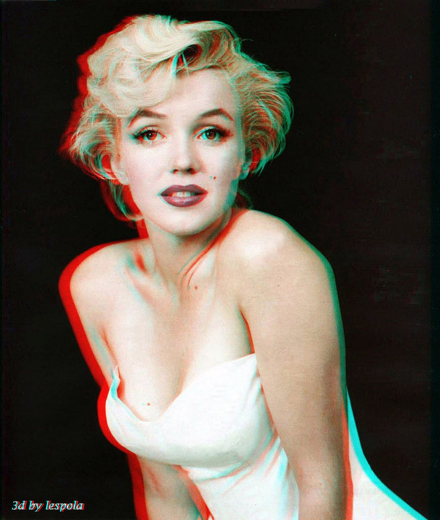 2d To 3d Conversion Marilyn Monroe Marylin Monroe Bilder