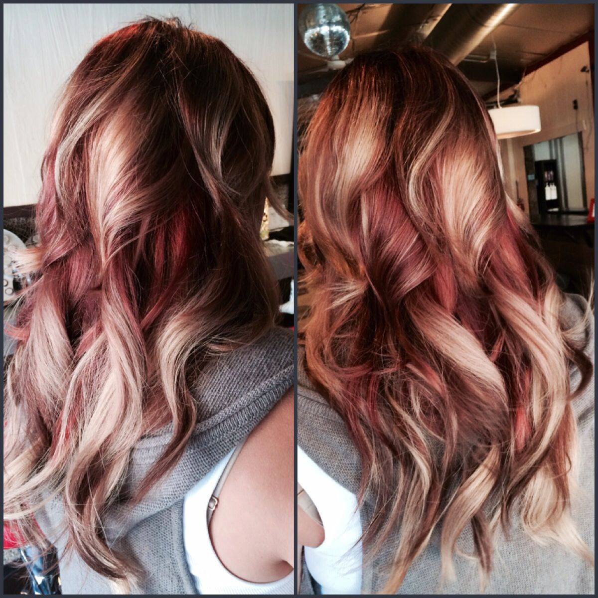 Rose Gold Hair Custom Warm Red Copper Hair Color And Sew In