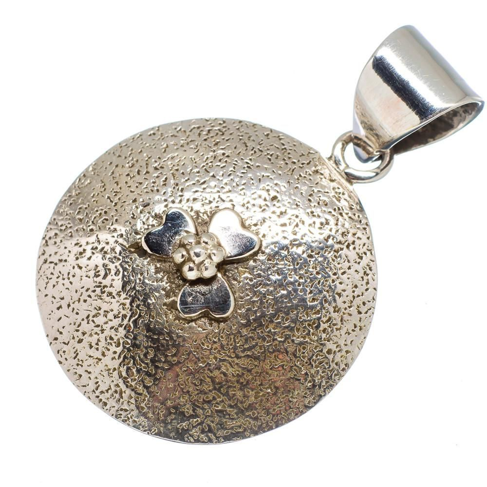 """Ana Silver Co Clover 925 Sterling Silver Pendant 1 1/2"""" PD578846"""