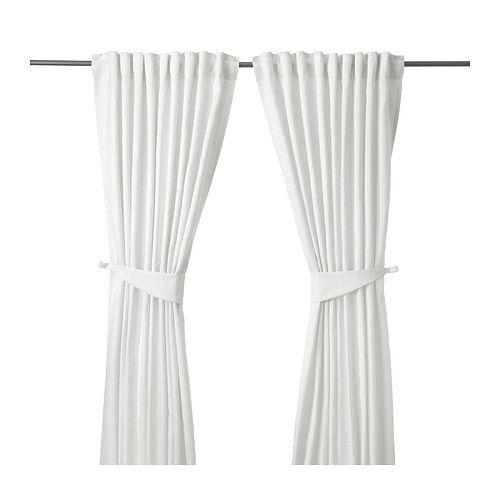 BLEKVIVA Gordijnen met embrasse, 1 paar, wit   Blickdichte gardinen ...