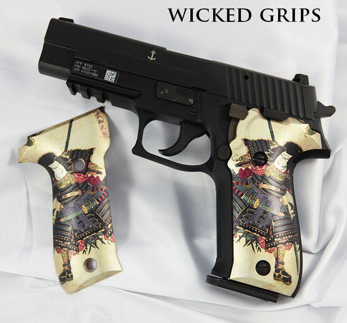 CUSTOM SIG 226 GRIPS SAMURAI - Wicked Grips - sig 226 grips samurai 1