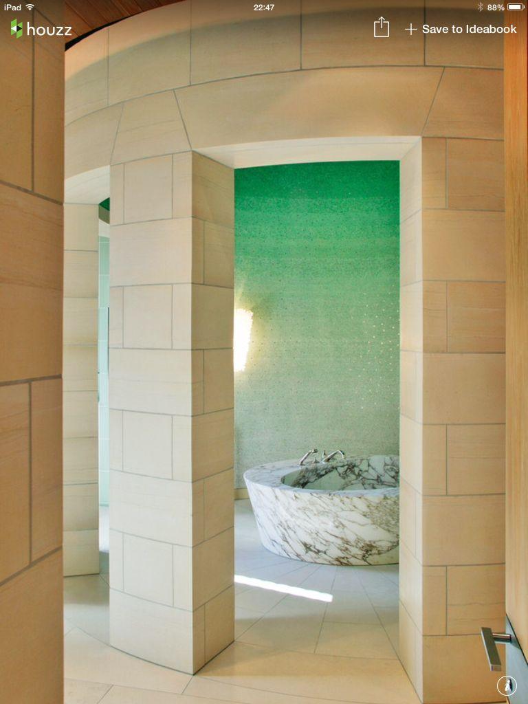 ombré tile  mint green bathroom decor green bathroom
