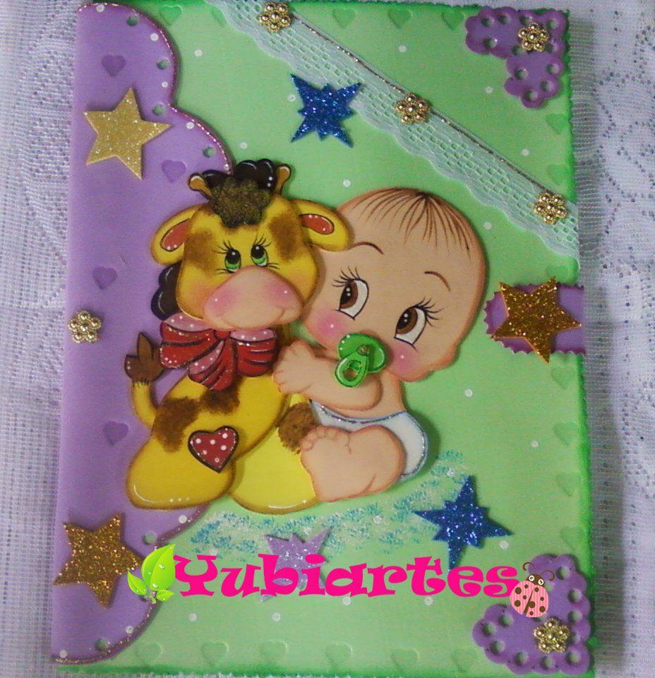 Carpeta De Decorada Baby Shower Souvenirs Paper Piecing Idea Creativas