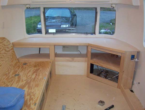 Couch Bed And Entertainment Center Progress Airstream