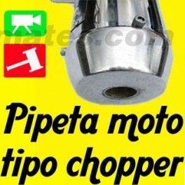 Pipeta Silenciador tipo Chopper Moto Dt Ts Lujo Transporte Viaja motocicleta repuesto - multiremates