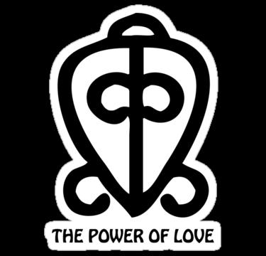 Power Of Love Adinkra Symbol African Art Cutural Art
