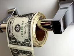 """""""Til slutt vil papirpenger gå tilbake til sin egenverdi - null"""". Voltaire"""