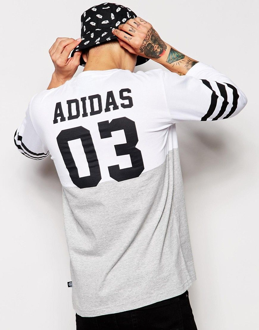 adidas long sleeve baseball shirt